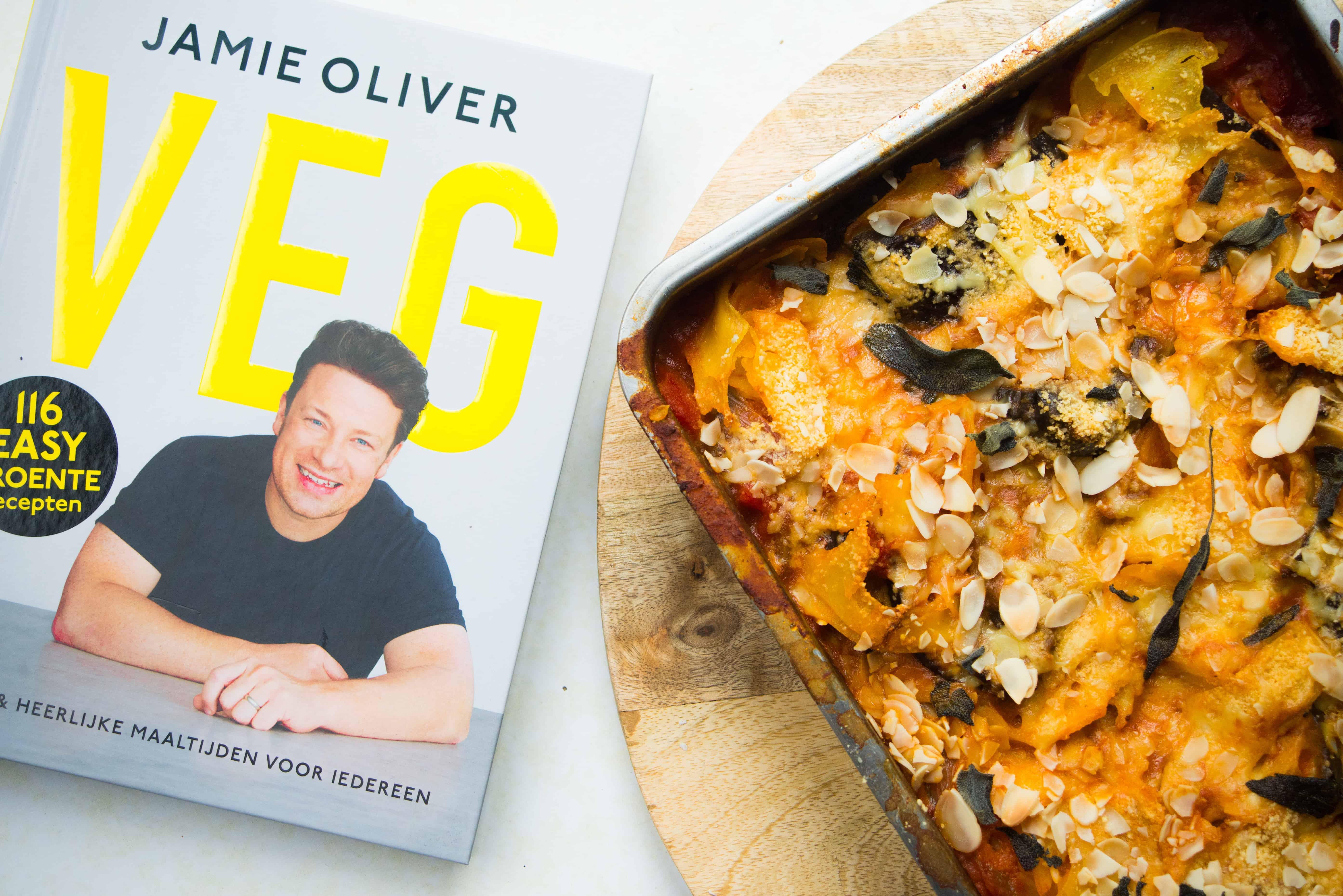 vegetarische lasagne met aubergine, vegetarische, Jamie Oliver, VEG, aubergine