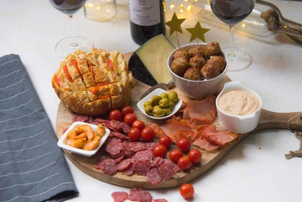 Spaanse borrelplank, Ribera del Duero, wijn
