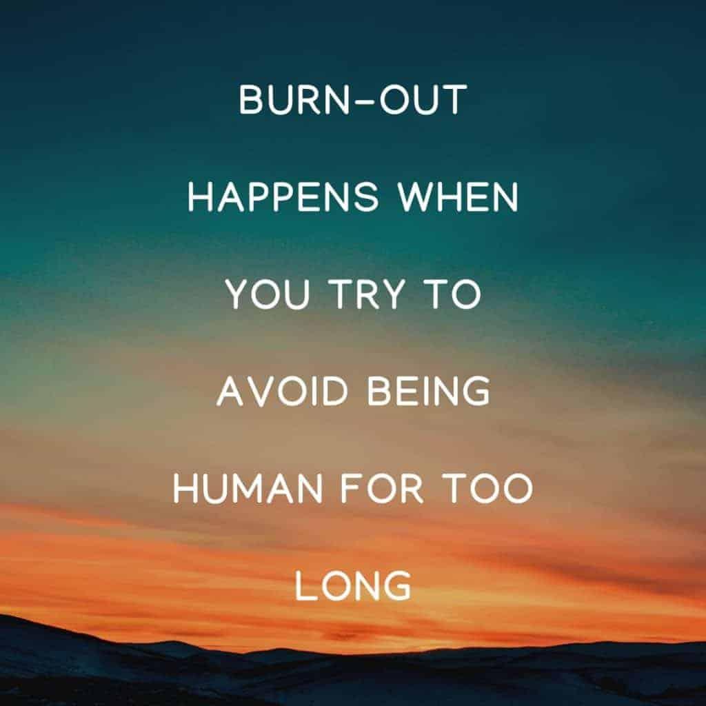 Ergste aan aan burn-out, burn-out, balans