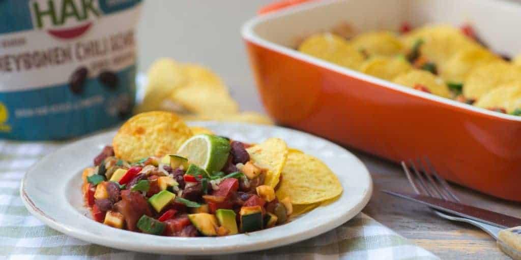 nachoschotel uit de oven, nacho's, kidneybonen, HAK