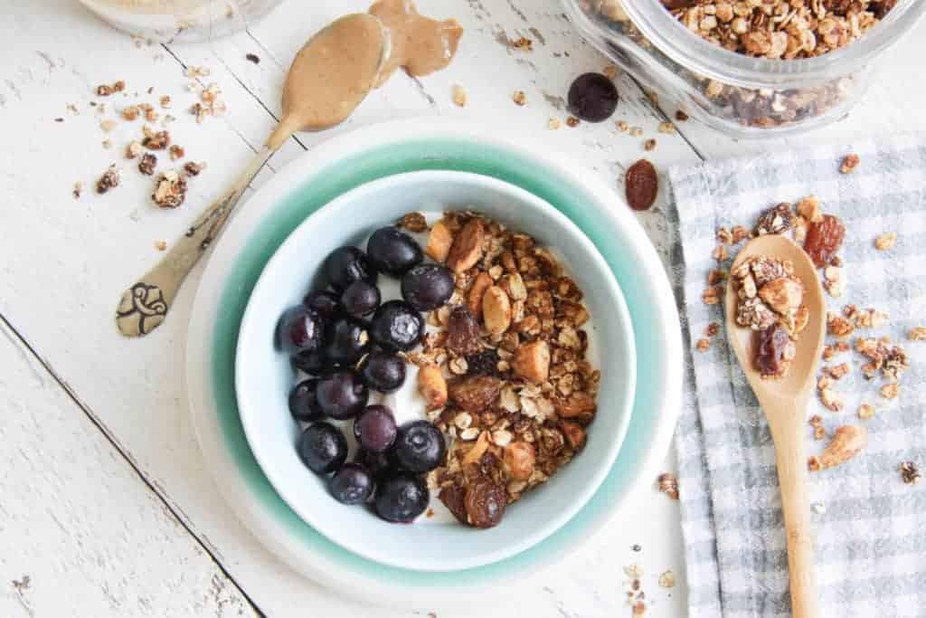 pindakaas granola, pindakaas, granola, Christa, Wat Chris Weet