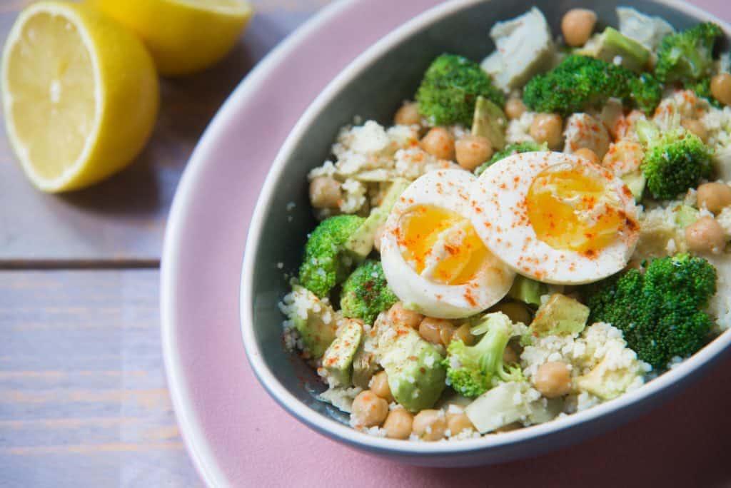 couscous salade met artisjok en ei, artisjok, couscous