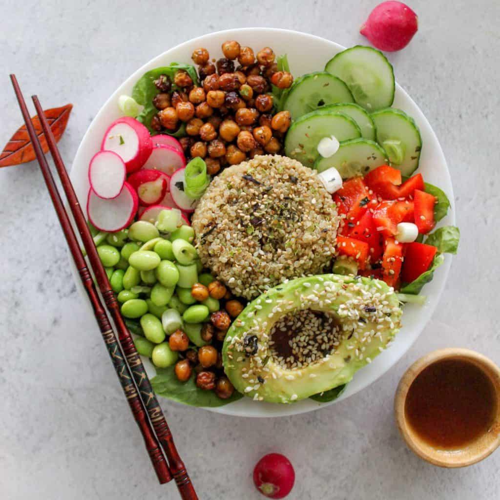 poké bowl, glutenvrij