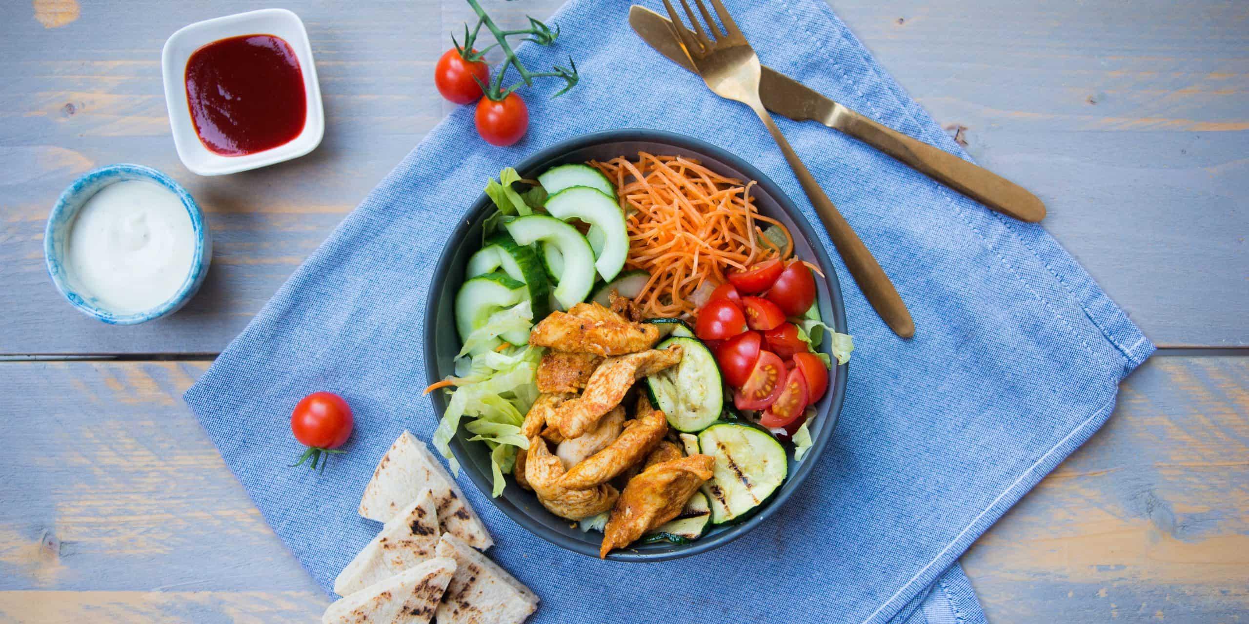 leuke recepten, kookboek, kipshoarma bowl