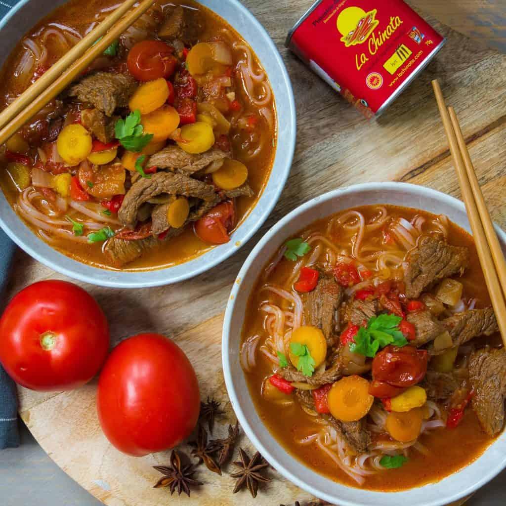 noodlesoep uit Oezbekistan, Laghman, noodlesoup, noedelsoep