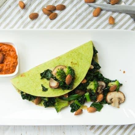 vegetarische groene wraps, wraps, green juice