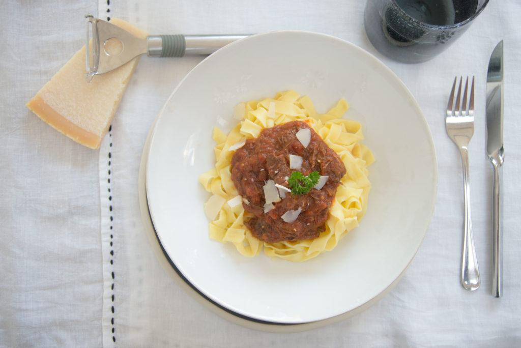 runderstoof met pappardelle pasta, kerst
