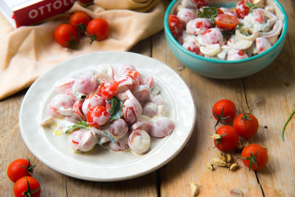 Yotam Ottolenghi, Flavour, tomatensalade met geitenkaas