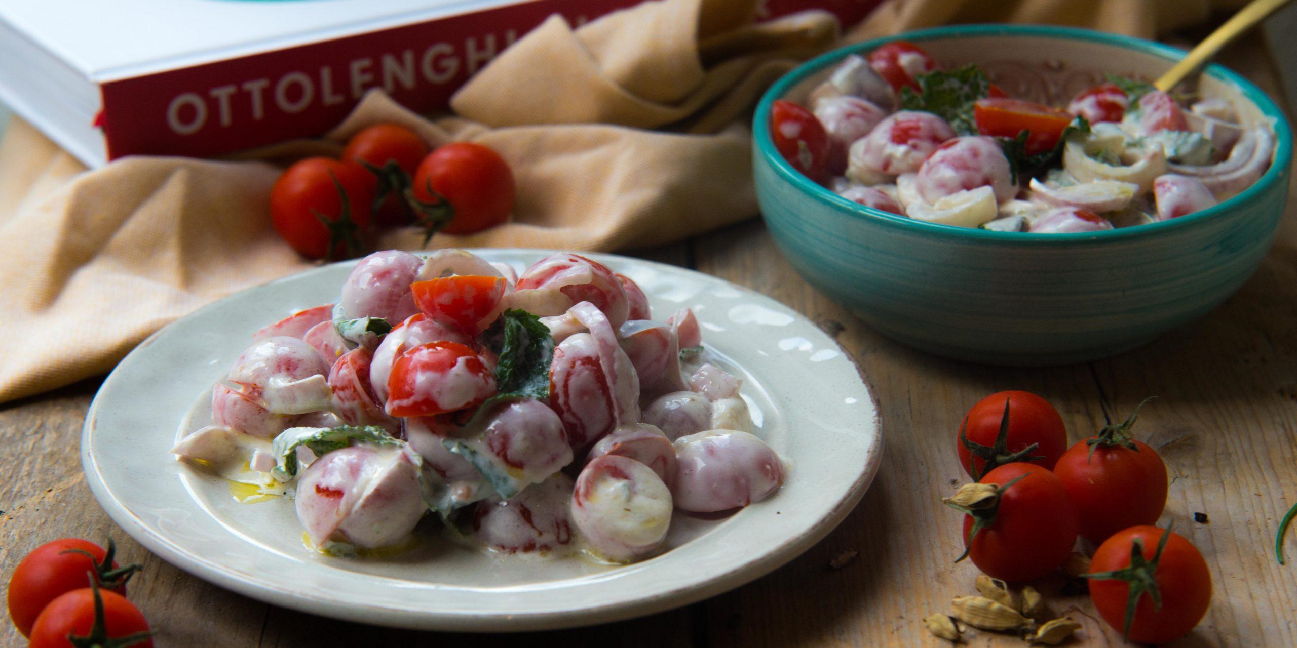 tomatensalade met geitenkaas, flavour, yotam ottolenghi