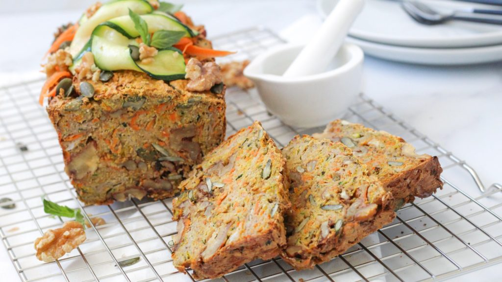 Glutenvrij groenten-notenbrood, glutenvrij