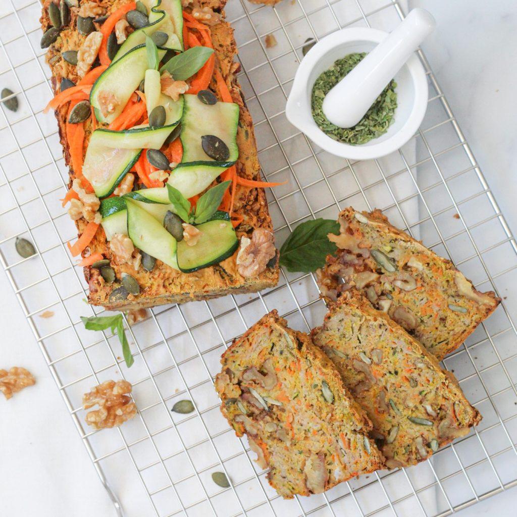 Glutenvrij groenten-notenbrood