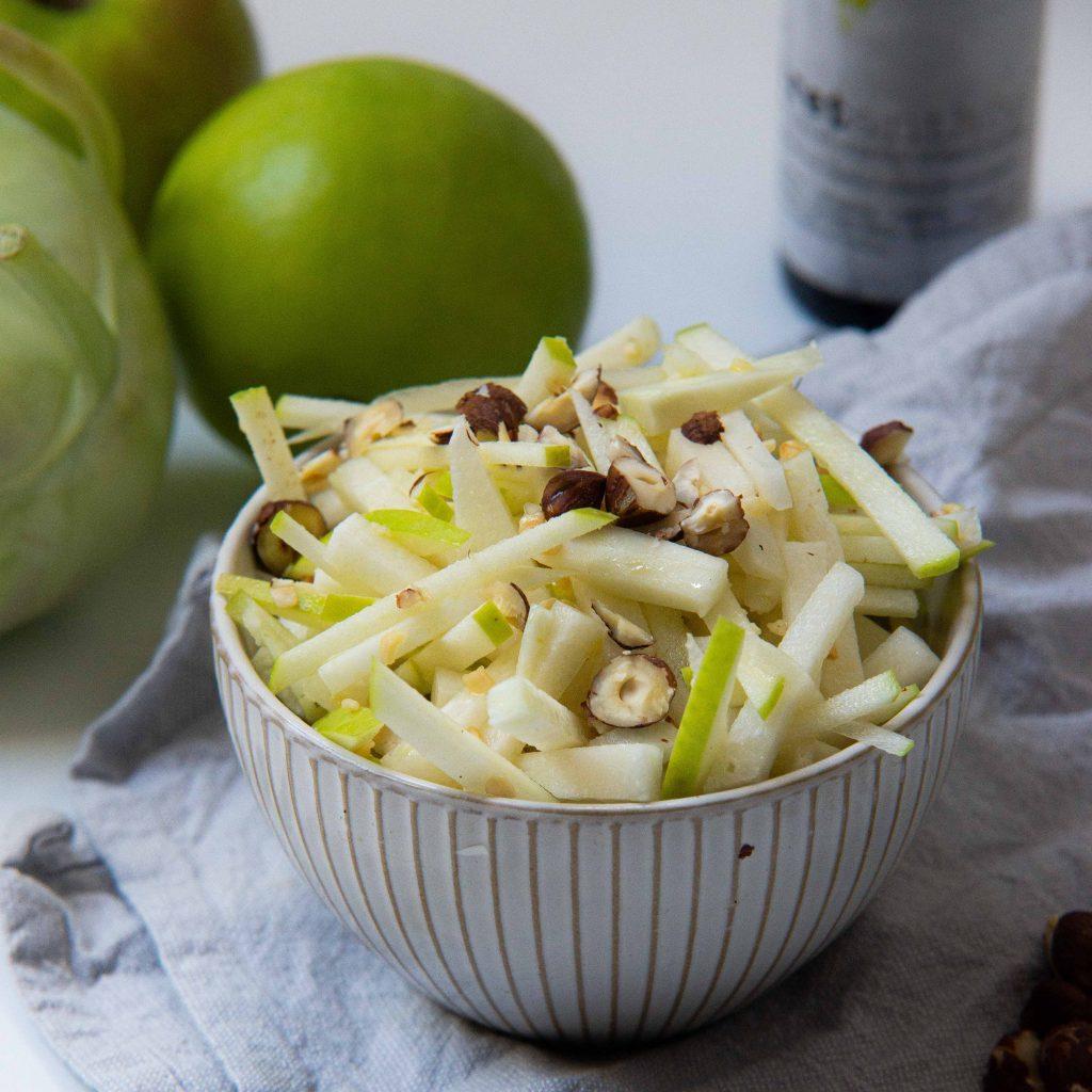 koolrabi salade met groene appel